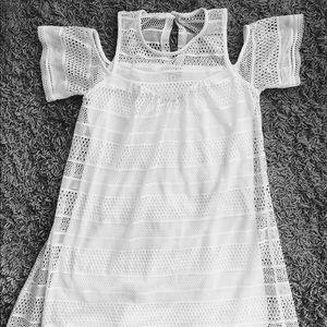 Off shoulder white short dress